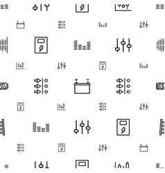 Level icons pattern seamless white background vector