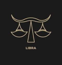 Libra Horoscope Icon vector image