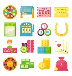 Lottery Theme Elements Set vector image