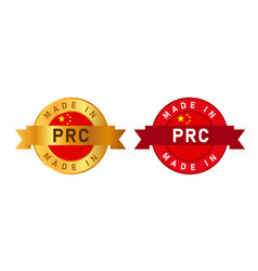 made in prc people s republic china label stamp vector image