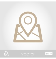 Map marker icon vector