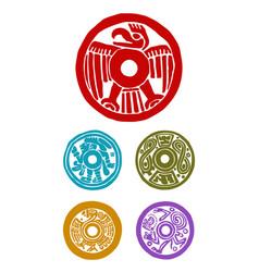 mayan symbols vector image