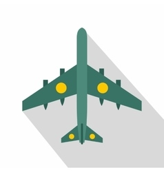 Military fighter aircraft icon flat style vector