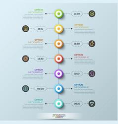 modern infographic design template 7 circular vector image