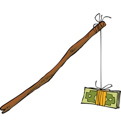 money on a rope vector image