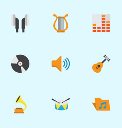 Music flat icons set collection of sonata vector