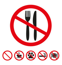 No food sign on white background vector