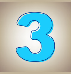Number 3 sign design template element sky vector