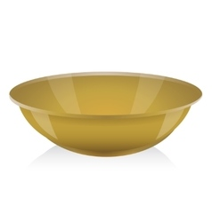 Ocher bowl vector