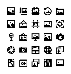 Photos and Images Icons 1 vector