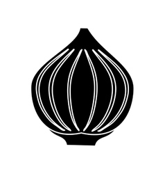 pictogram onion vegetable spicy natural icon vector image