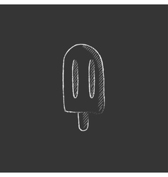 Popsicle Drawn in chalk icon vector