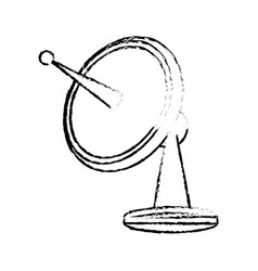 Radar dish antenna for broadcast electronic vector