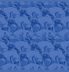 Repeated seamless pattern cute rabbits in the vector