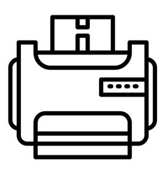 room printer icon outline style vector image