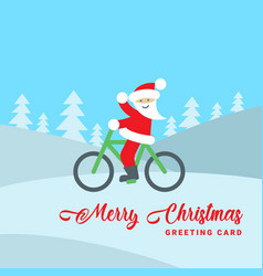 santa claus on a bike vector image