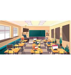 School classroom interior vector