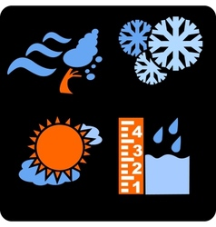 Seasons and weather- set vector image