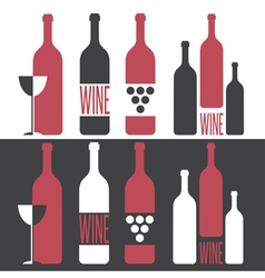 Set of on wine theme vector