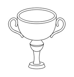 Silver award winner of the competitionthe cup for vector