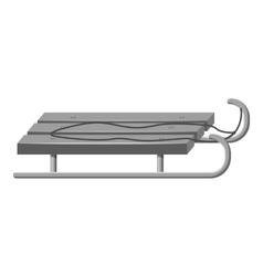 Sleigh icon gray monochrome style vector