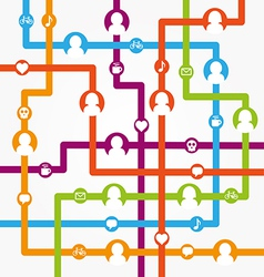 Social network internet chat community vector