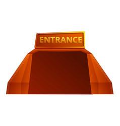 Stadium entrance icon cartoon style vector