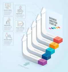 Start up business staircase direction vector