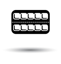 Tablets pack icon vector