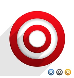 Target with Diagonal Shadows vector