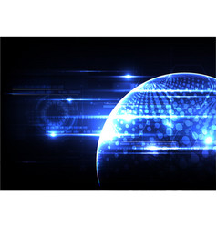 Technological global security background abstract vector