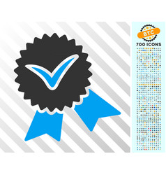 validation seal flat icon with bonus vector image
