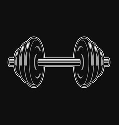 vintage iron dumbbell template vector image