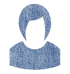 woman profile fabric textured icon vector image