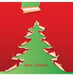 creative christmas tree paper vector image vector image