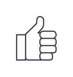 finger up line icon sign on vector image vector image