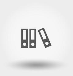 flat folder icon vector image vector image