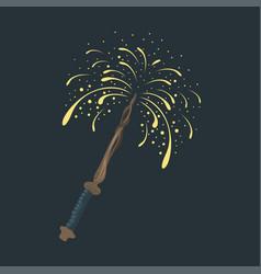 magic wand fun fairytale imagination symbol wishes vector image