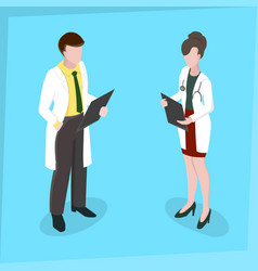 medical staff man and woman medical examination vector image