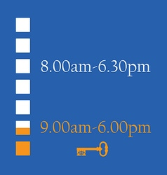 Shop timetable vector image vector image