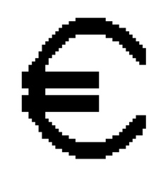 Sign pixel euro black 807 vector image vector image
