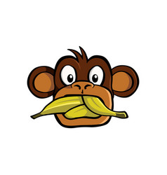 speak no evil monkey vector image vector image