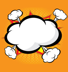 abstract blank boom speech bubble comic book vector image