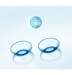 Contact Lenses vector image vector image