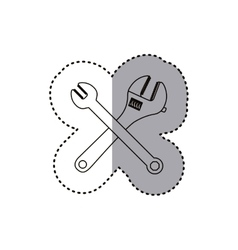 Wrench tool of under construction design vector
