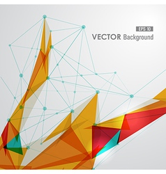 Colorful web geometric transparency vector image vector image
