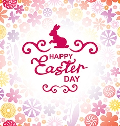 easter rabbit red vector image vector image