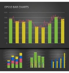 Graph bar chart vector image vector image