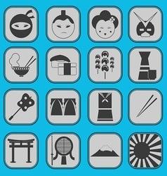 japanese icon basic style vector image