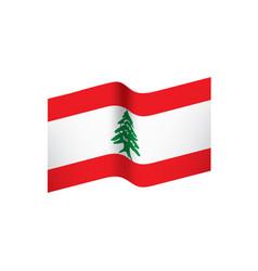 lebanese flag vector image